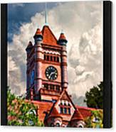 Old Dupage County Courthouse Clouds Poster Canvas Print
