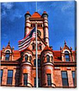 Old Dupage County Courthouse Flag Canvas Print