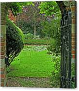 Old English Garden Canvas Print
