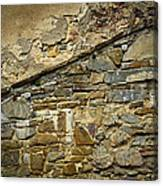 Old Eroded Stone Wall Canvas Print