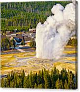 Old Faithful From Observation Point Canvas Print