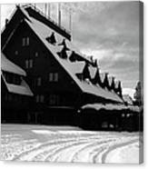 Old Faithful Inn In Winter Canvas Print