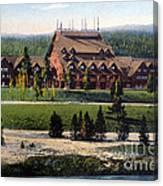 Old Faithful Inn Yellowstone Np 1928 Canvas Print