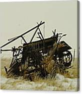 Old Farm Equipment Northwest North Dakota Canvas Print