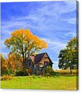 Old Farm Home Canvas Print