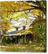 Old Farm House Behind Color Canvas Print