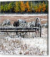 Old Farm Rake Canvas Print