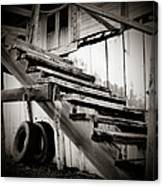 Old Farm Stairs Canvas Print