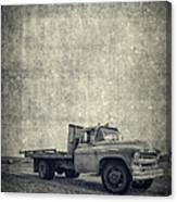 Old Farm Truck Cover Canvas Print
