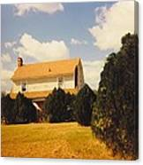 Old Farmhouse Landscape Canvas Print