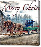 Old Fashion Merry Christmas Canvas Print