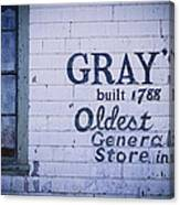 Old Fashioned General Store Abandoned Canvas Print