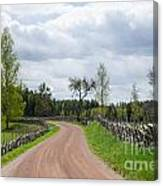 Old Fashioned Gravel Road Canvas Print