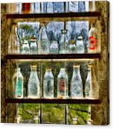 Old Fashioned Milk Bottles Canvas Print