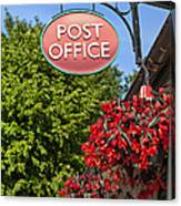 Old Fashioned Post Office Sign Canvas Print