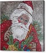 Old Fashioned Santa Canvas Print