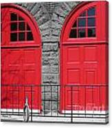 Old Fire Hall Doors Canvas Print