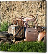 Old Flatbed International Truck Canvas Print