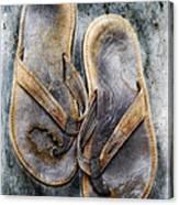 Old Flip Flops Canvas Print