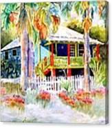 Old Florida House  Canvas Print