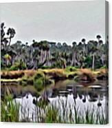 Old Florida Waterway Canvas Print