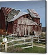Old Forlorn Decrepid Wooden Barn Canvas Print