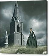 Old Freanch Church With Maiden Canvas Print