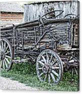 Old Freight Wagon - Montana Territory Canvas Print