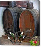 Old French Wine Casks Canvas Print