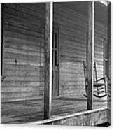 Old Front Country Porch  Canvas Print