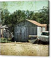 Old Garage And Car In Seligman Canvas Print