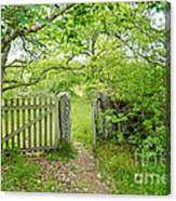Old Garden Gate Canvas Print