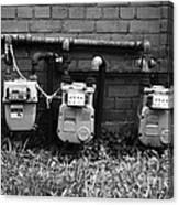 Old Gas Meters Canvas Print