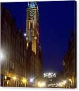 Old Gdansk November Nights Canvas Print