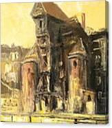 Old Gdansk - The Crane Canvas Print
