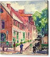 Old Georgetown Dc 1910 Canvas Print