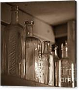 Old Glass Bottles Canvas Print