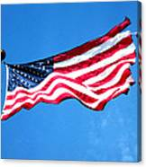 Old Glory - American Flag By Sharon Cummings Canvas Print