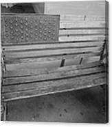 Old Glory Bench In Philadelphia Canvas Print