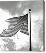 Old Glory Bw Canvas Print