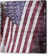 Old Glory Rustic Canvas Print