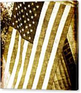 Old Glory Sepia Rustic Canvas Print
