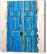 Old Greek Shutter Canvas Print