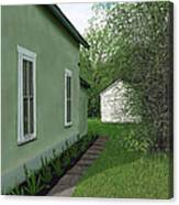 Old Green House Canvas Print