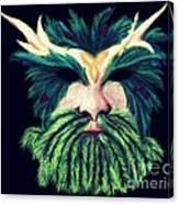 Old Green Man Winter Canvas Print