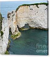 Old Harry Rocks On The Jurassic Coast In Dorset Canvas Print