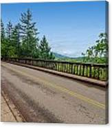 Old Highway And Forest Canvas Print