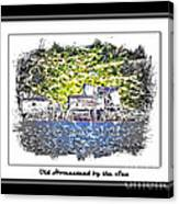 Old Homestead By The Sea Canvas Print