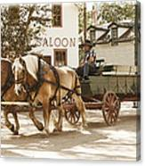 Old Horse Drawn Wagon At Fort Edmonton Park Canvas Print