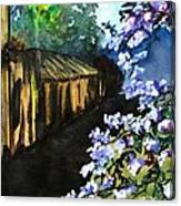 Old House And New Flowers Canvas Print